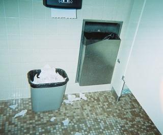 messy restroom - crop